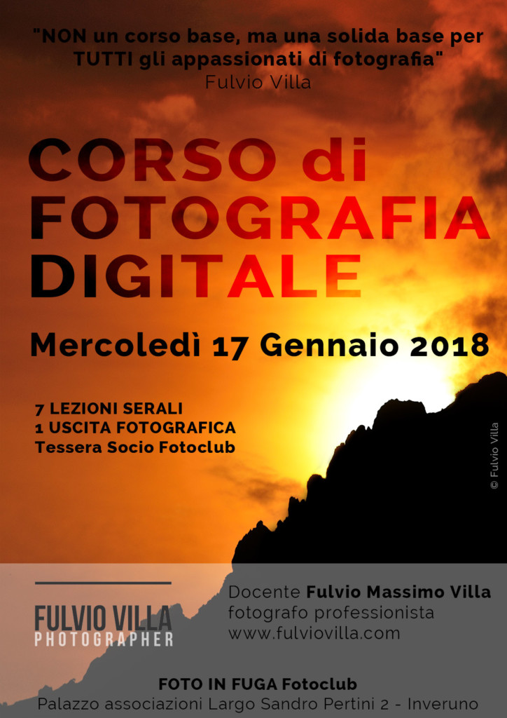 corso fotografia digitale 2018